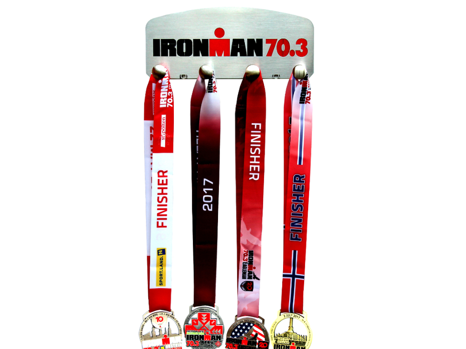 IRONMAN 70.3 Stainless Steel Official Medal Display Hanger 4K